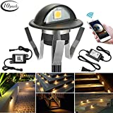 WiFi Deck Lights, FVTLED WiFi Controlled 10pcs Low Voltage LED Deck Lights Kit Φ1.38
