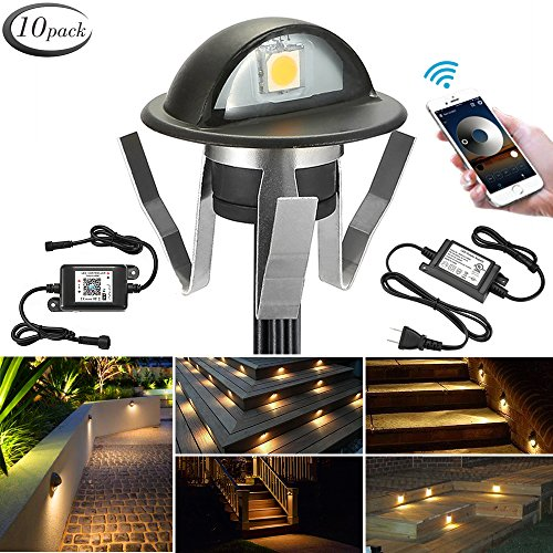 - WiFi Deck Lights, FVTLED WiFi Controlled 10pcs Low Voltage LED Deck Lights Kit Φ1.38