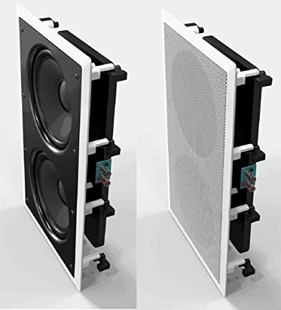 Amazon.com: OSD Audio IWS88 In-Wall 350W Home Theater Subwoofer Dual ...