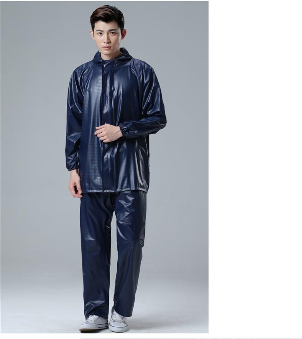 Raincoat Hohe Elastizit/ät PVC Set Split Regen Hosen Erwachsener Mann Gro/ße Outdoor-Labor Motorrad Regenschutz Kleidung Reiten Wasserdichte Jacke