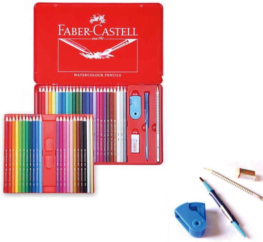 Caja metálica de 48 lápices de acuarela Faber Castell con regalo ...