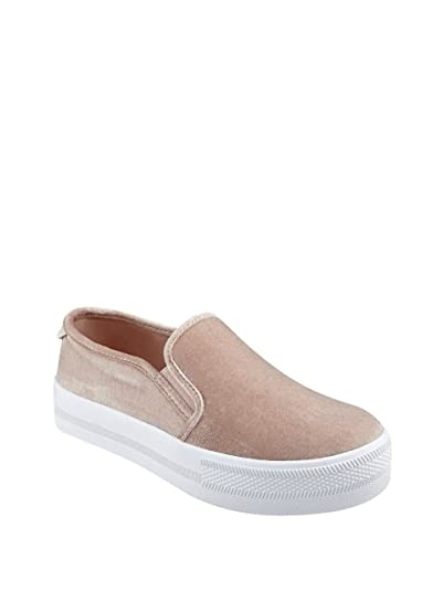 7b39eeeb7f52e G by Guess Womens Citti Velvet Low Top Slip On Fashion Sneakers