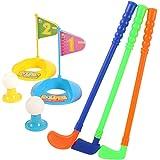 Plastic Golfer Toy Toddler Golf Game Toy Set for Kids Children 9 Piece Set
