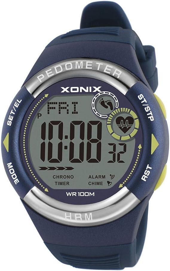 XONIX – Reloj Digital Unisex Impermeable podómetro calorías ...