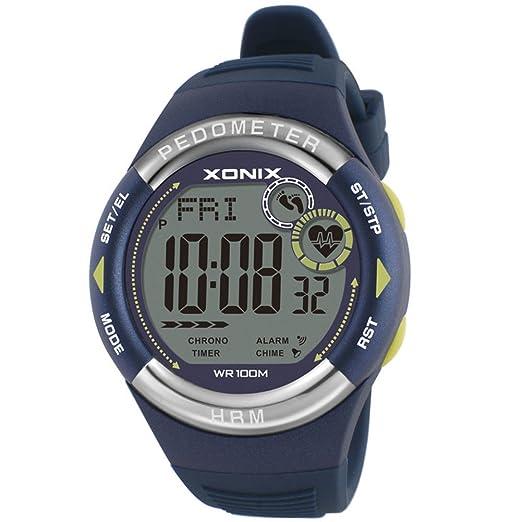 XONIX - Reloj digital unisex impermeable podómetro calorías contador pulso Monitor de frecuencia cardiaca Sports Tracker: OUANGANC: Amazon.es: Relojes
