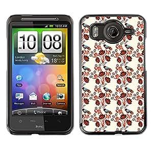 ZECASE Funda Carcasa Tapa Case Cover Para HTC Desire HD G10 No.0000066