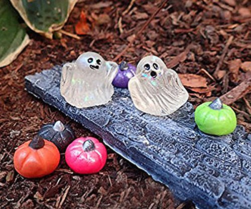 miniature fairy garden halloween decorations cute fairy garden ghost set miniature ghosts for fairy