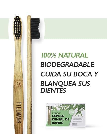 Cepillo de dientes de Bambú. Cepillo dental bambú Biodegradable 100% ecológico, orgánico,