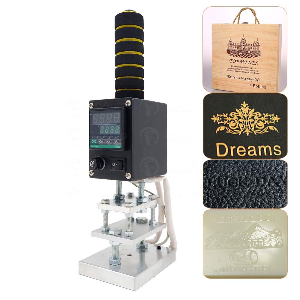 Handheld Hot Foil Stamping Machine Digital Display Embosser for Branding Wood Brown Paper Embossing Leather PU Logo DIY (8x10cm, 220V) by FASTTOBUY