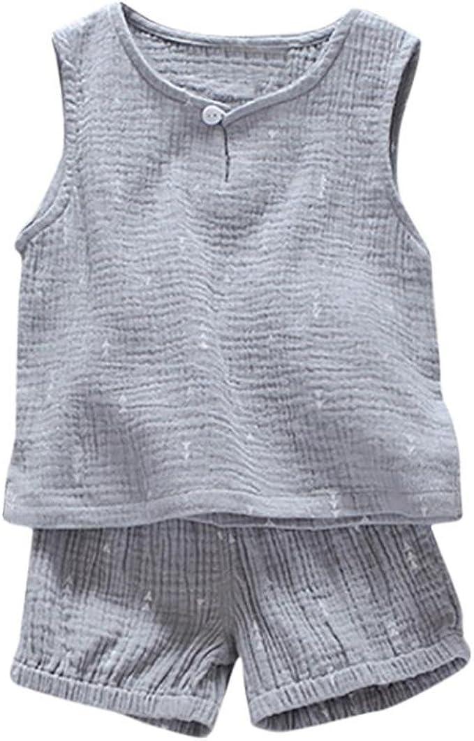 XHX Newborn Infant Fox Clip Short Sleeve Romper Onesie Bodysuit Jumpsuit