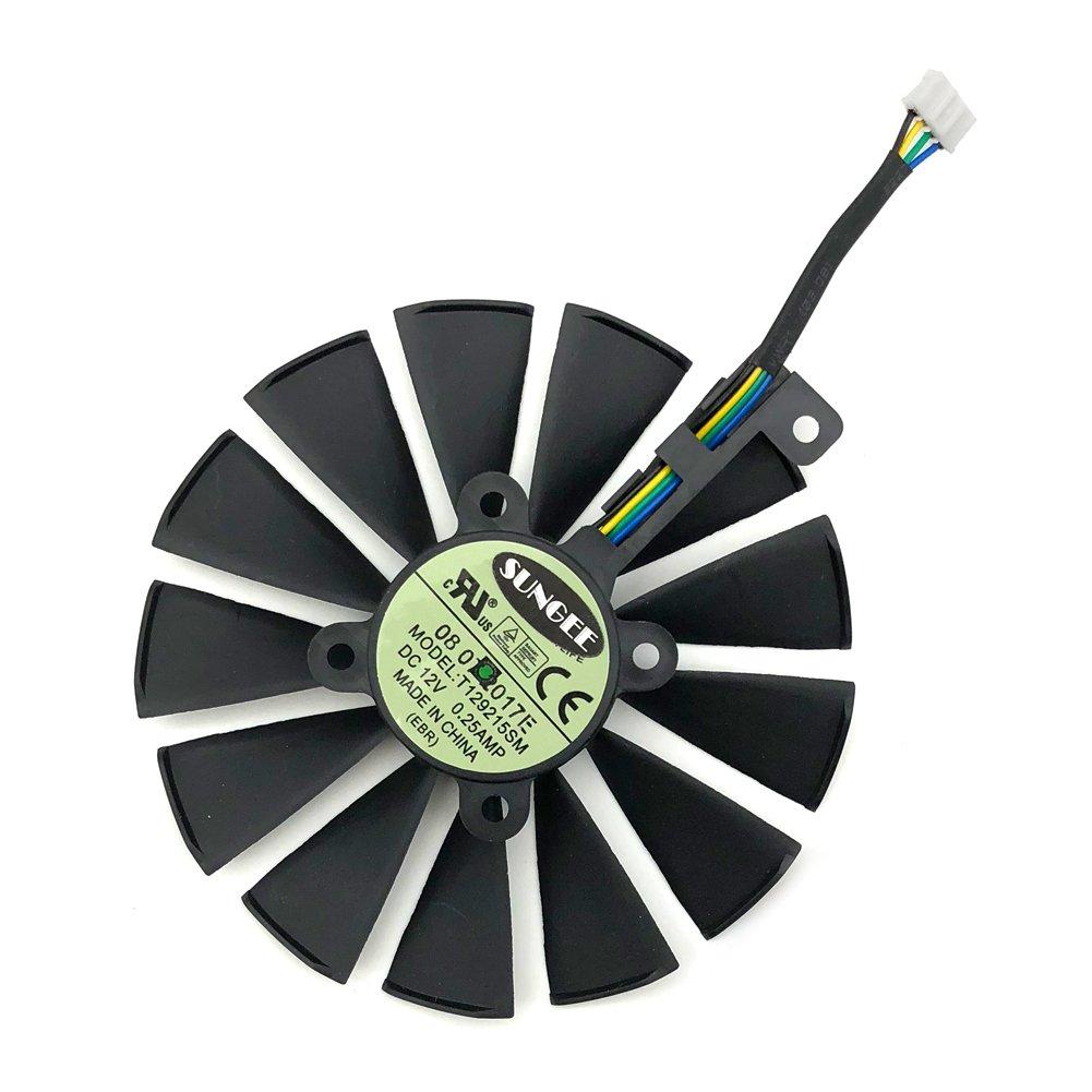 Z.N.Z T129215SM 95mm 12V 0.25AMP Graphics Card Cooling Fan For ASUS ROG STRIX GTX 1050 1050Ti RX470 RX570 RX580 POSEIDON GTX 1080Ti P11G GAMING CERBERUS-GTX 1070Ti Video Card fans