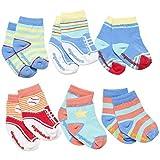 Elegant Baby Baby-Girls Newborn Non Slip 6 Pairs Of Infant Socks - Ballet by Elegant Baby
