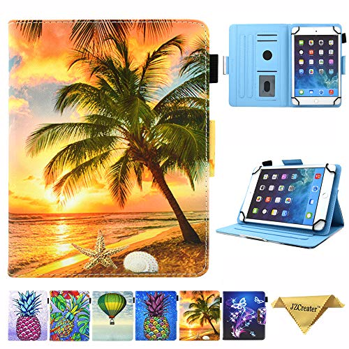 7.5-8.5 Inch Tablet Universal Case, JZCreater Stand Wallet Case for iPad Mini 1/2/3/4 /Samsung Galaxy Tab 8.0 Series/F ire HD 8 2016 2017 2018 and More 7.5