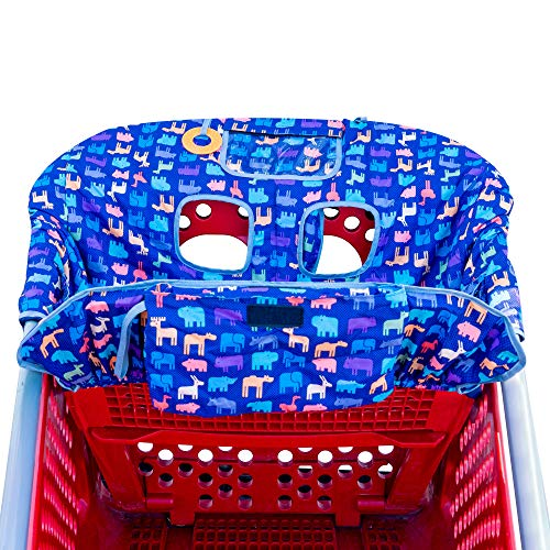 New from Busy Bambino: 2-in-1 shopping cart/high chair cover perfect for you and your baby. Now available in a beautiful animal print. Buy Now! by Busy Bambino (Image #7)