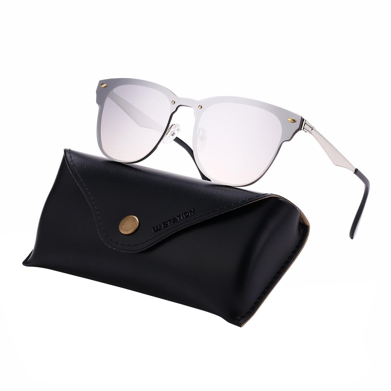 3773a867395 Mirrored wayfarer sunglasses rimless sunglasses flat mirrored sunglasses  with sunglasses case silver clothing jpg 1500x1500 Rimless