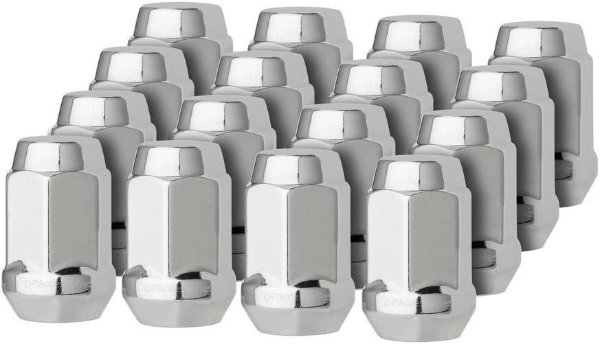 Cone Seat DPAccessories LCB3B5HE-BK04020 20 Black 12x1.25 Closed End Bulge Acorn Lug Nuts 19mm Hex Wheel Lug Nut