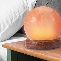 Himalayan Salt Lamp Globe USB Natural Crystal Rock Cord Night Light Lamps Globes