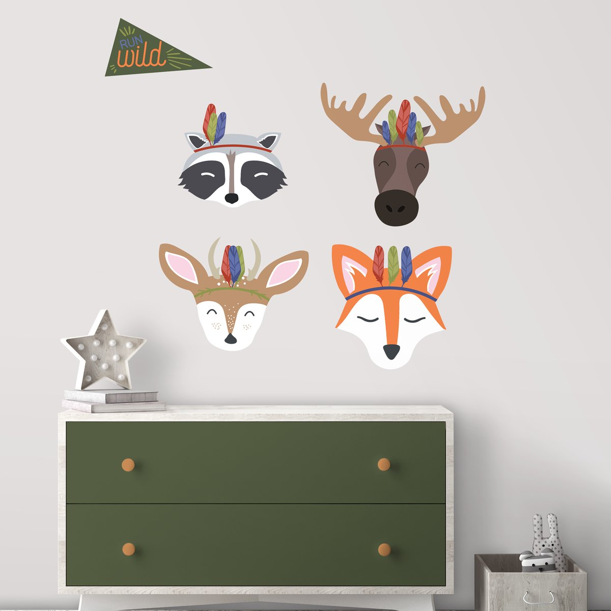 Vinilo Decorativo Pared [7BY8VFSW] animales del bosque