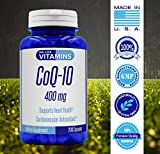 CoQ10 400mg 200 Capsules Max Strength Best Value CoQ-10 - Antioxidant Co Q-10 Coenzyme for a Healthy Heart Discount