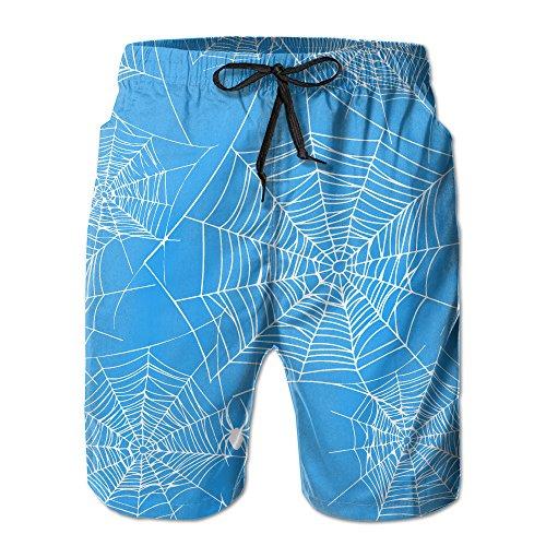 Spider Halloween Web Beachwear Board Shorts Swim (Halloween Webs Clipart)