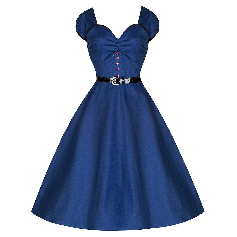 WintCO Damen Flügelärmel Abnedkleid Vintage Kleid mit Gürtel Wrapped Retro-Stil Tanzkleid