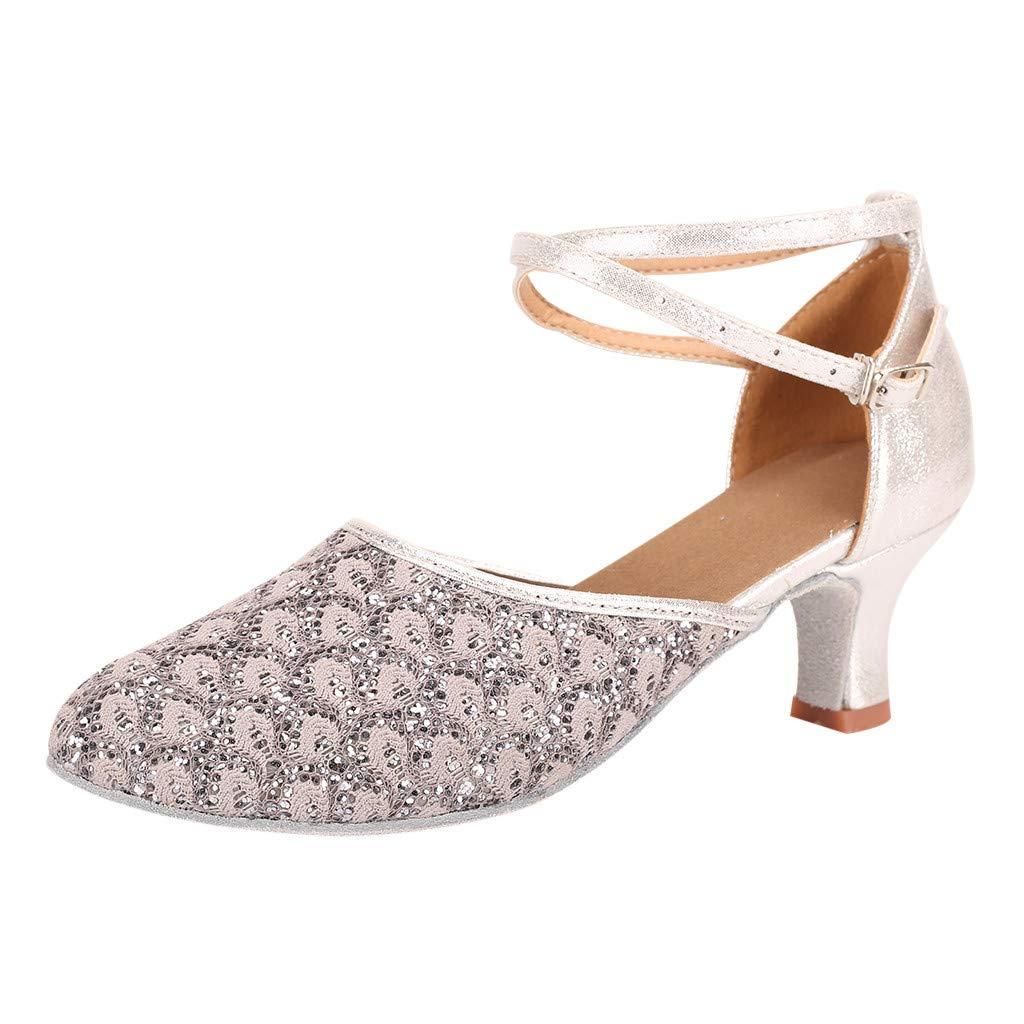 Womens Waltz Modern Dance Shoe - Ballroom Latin Dance Soft Bottom Sandals,Sunsee 2019 New