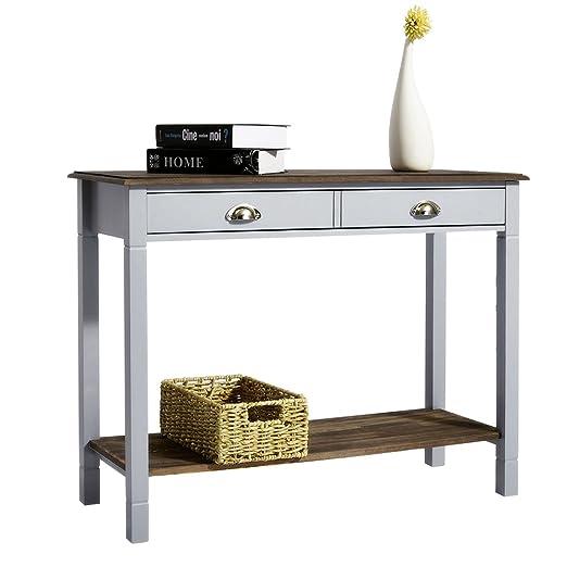 Mesa consola blanca 1000 x 380 x 740 mm impresionante mesa de ...