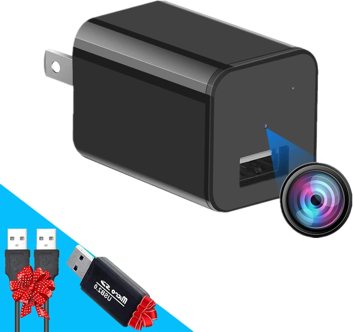 Mini Charger Spy Camera 1080P Full HD Camcorder Hidden DVR Loop Record