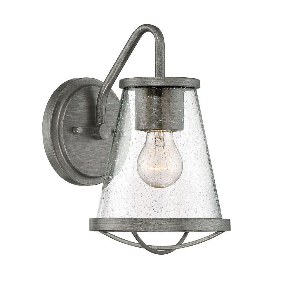 Designers Fountain 87091-WI Wall Lantern, Weathered Iron