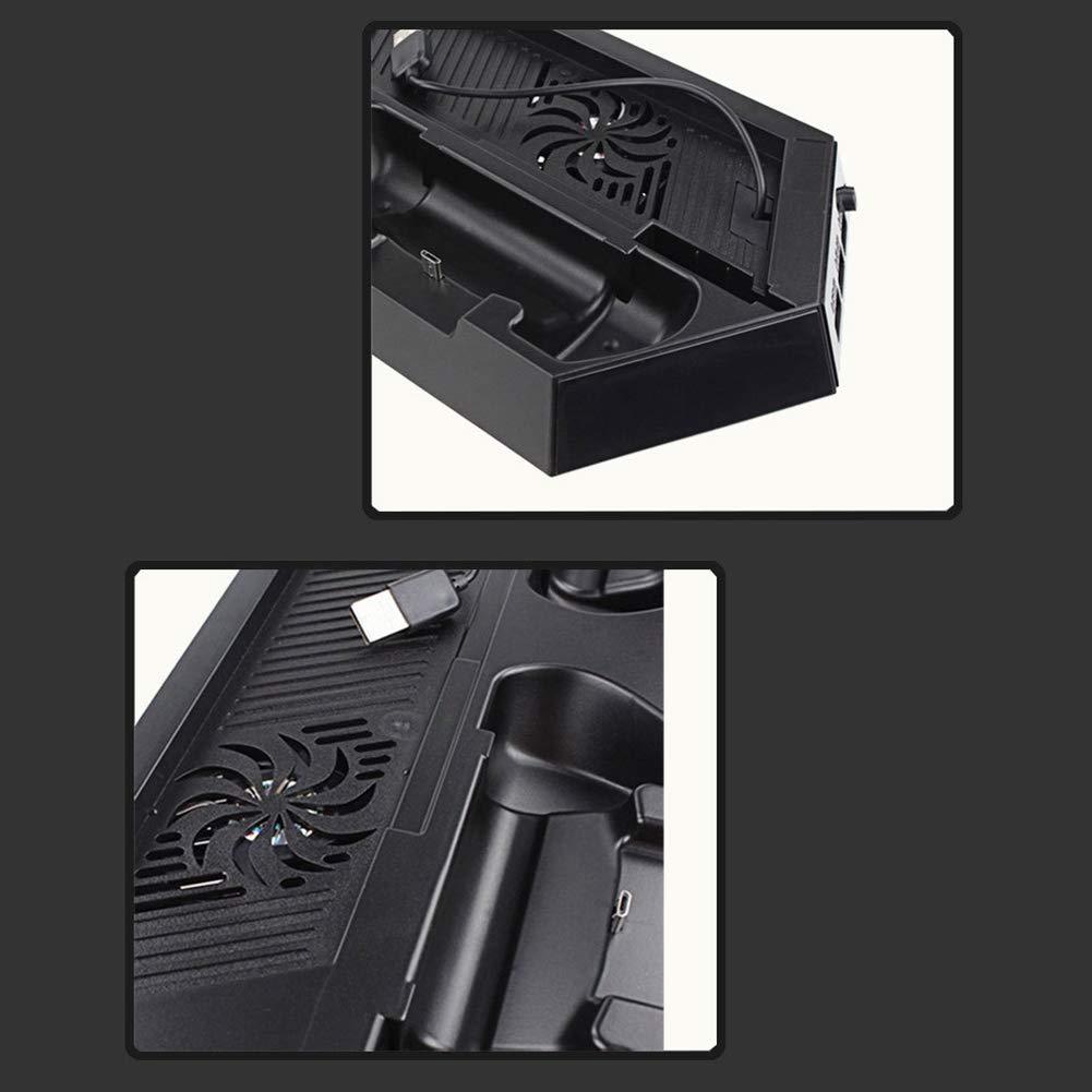Neborn Soporte Vertical de estaci/ón de ventilaci/ón Ps4 con 2 Estaciones de Carga y concentrador USB
