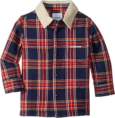 SUPERISM Baby Boy's Lincoln Flannel Shirt w/Sherpa Collar (Toddler/Little Kids/Big Kids) Navy 6 ()