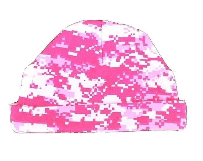 deb024fc Baby Girls Pink Digital Camo Hat Cotton Baby Cap