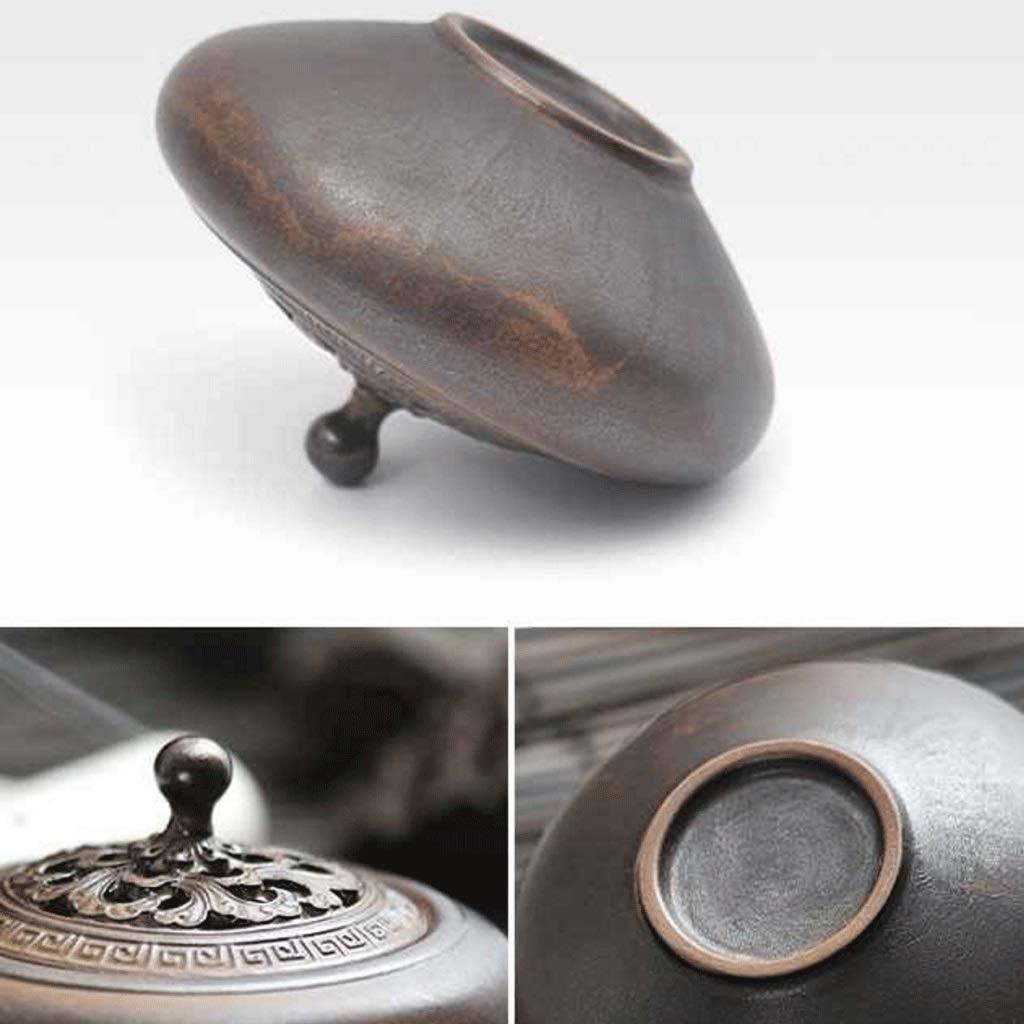 TangMengYun Ceramic Incense Burner Antique Dish Incense Burner Household Incense Holder Incense Burner Tea Ceremony Indoor Aromatherapy (Size : 10.8cm) by TangMengYun (Image #5)