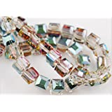 HYBEADS 50PCS Austria #5601 6mm crystal cube beads (72-84-6)