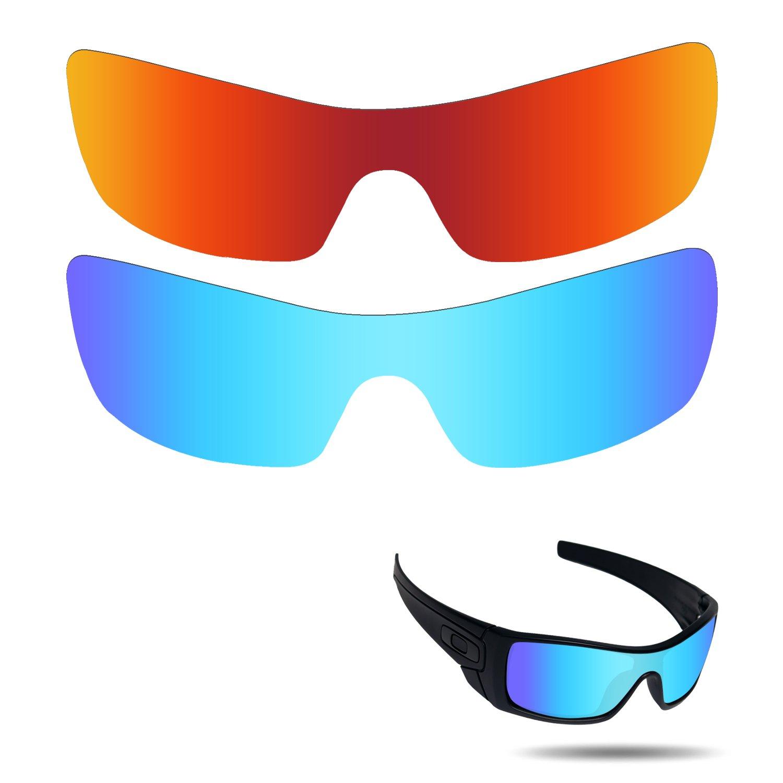 d9de8f565d Fiskr Anti-Saltwater Polarized Replacement Lenses for Oakley Batwolf  Sunglasses 2 Pieces Packed