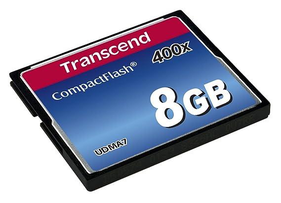 Transcend TS8GCF400 - Tarjeta de Memoria Compact Flash de 8 GB