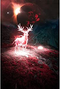 Planetary Universe Fantasy Deer Diamond Painting, DIY 5D Diamond Painting, Cross Stitch Full Diamond Crystal Rhinestone Embroidery Pictures, handicrafts, Home Decoration Wall Decoration, 12x16 inches