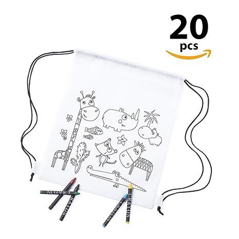 Lote DE 20, Mochila Cuerdas pequeñas Infantiles WIZZY, para Colorear ...
