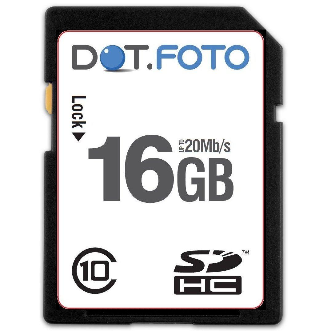 Dot.Foto - 16 Go Carte mémoire SDHC Classe 10 - 20Mo/sec pour caméscopes pour GoPro [Pour la compatibilité voir la description] DOTSDH16G10DB!38