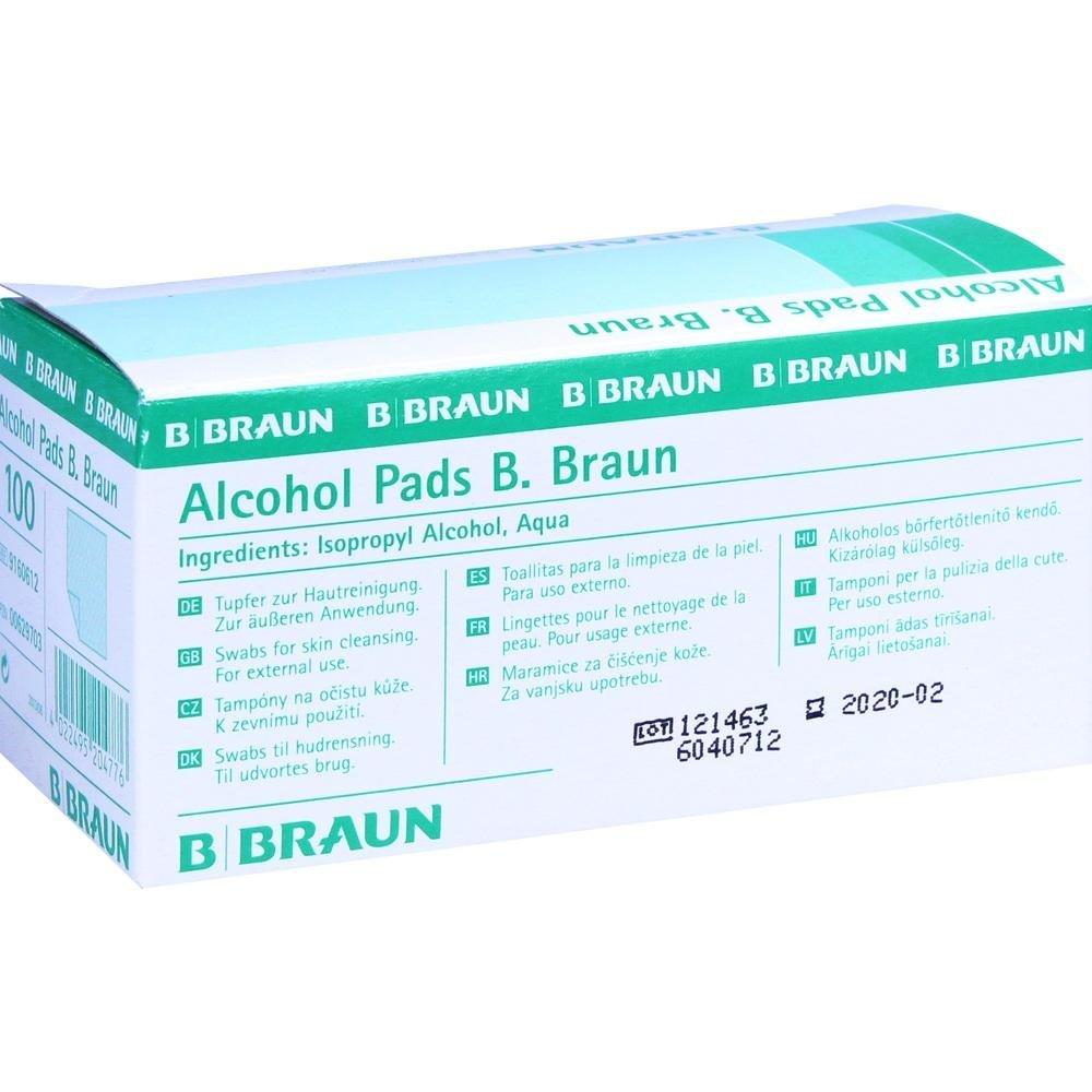 B Marrone Alcohol Pads, 1er Pack, (1X 100pezzi) B.Braun 4022495204776