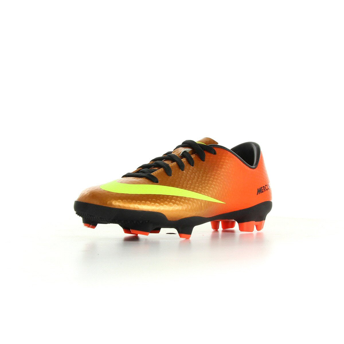 Nike Junior Mercurial Veloce FG Sunset   Volt-Total   Crimson schwarz
