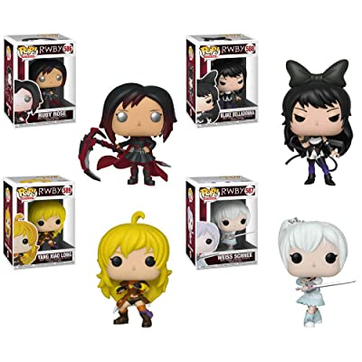 "Funko Pop! Animation: RWBY Collectible Vinyl Figures, 3.75"" (Set of 4): Toys & Games"