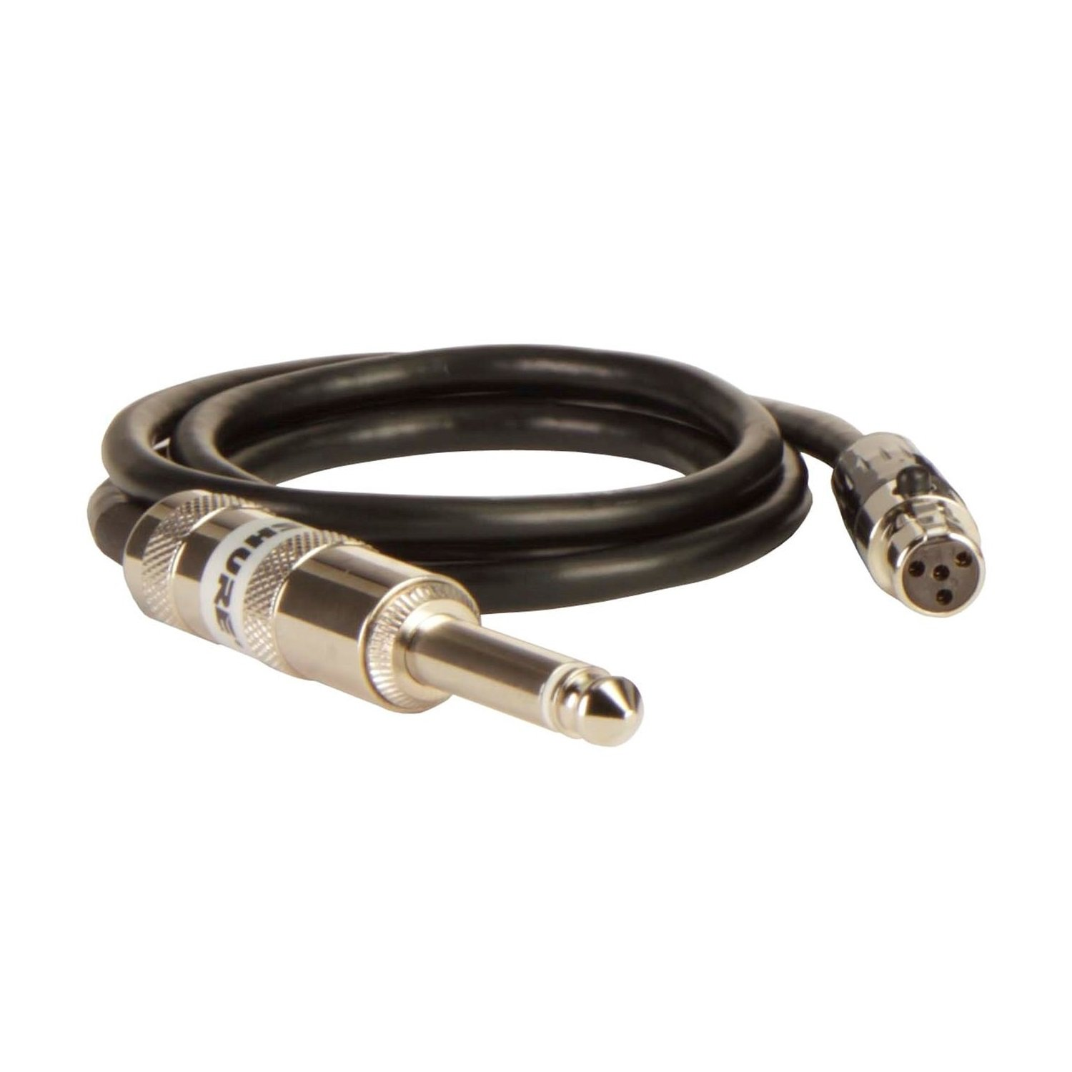 Shure WA302 2-Feet Instrument Cable, 4-Pin Mini Connector (TA4F) to 1/4-Inch Connector Shure Incorporated