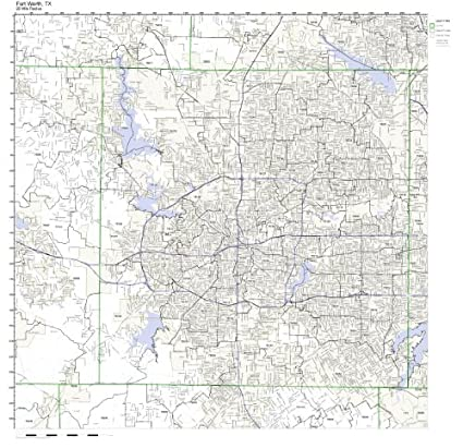 76177 Zip Code Map.Amazon Com Fort Worth Tx Zip Code Map Laminated Home Kitchen