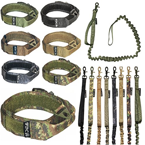 LAR with LEASH Bungee Handle HEAVY DUTY Training Military Army Molle WIDTH 1.5in Plastic Buckle HOOK & LOOP (M: Neck 11