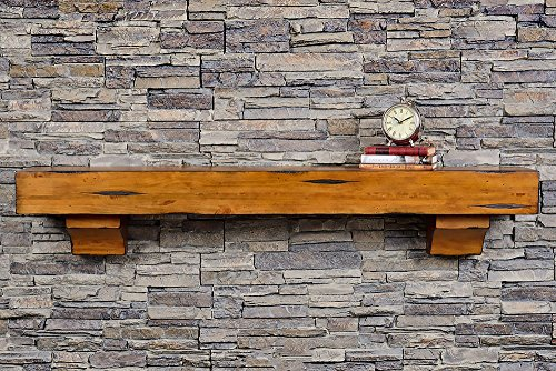 Breckenridge 48 Inch Shelf - Chestnut Rustic Finish by Mantels Direct