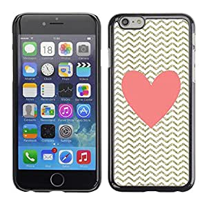 Planetar® ( Heart Pink Gold Classy Chique ) Apple (5.5 inches!!!) iPhone 6+ Plus / 6S+ Plus Fundas Cover Cubre Hard Case Cover