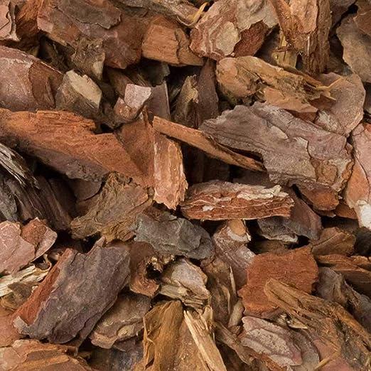 Corteza de Pino decorativa en formato 10-25mm. Disponible en sacas de 33, 67, 100, 133 y 200Kg.: Amazon.es: Jardín