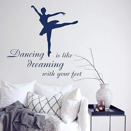 YuanMinglu Ballet Dancer Studio Quote Etiqueta de la Pared ...