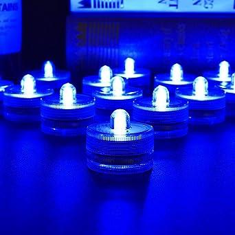 Submersible DEL Tea Lights Étanche Batterie pour Mariage Soirée Décor